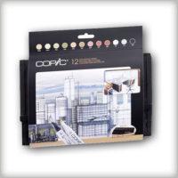 Copic Marker – Set 12 Architecture Colours + Wallet