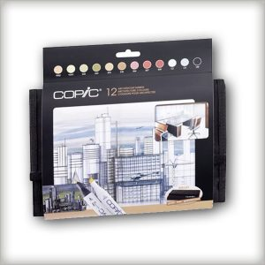 Copic Marker – Set 12 Architecture Colours + Wallet