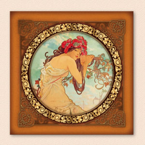 "post-er-card ""Estate"" Alphonse Mucha"
