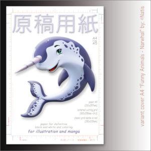"Carta Manga Genkouyoushi ""Narwhal"" A4 B/N e colors – TSURI"