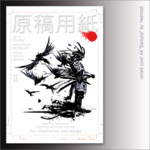 "Carta Manga Genkouyoushi ""Samurai"" A4 B/N e colors – TSURI"