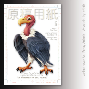"""Carta Manga Genkouyoushi """"Avvoltoio"""" A4 B/N e colors – TSURI"""
