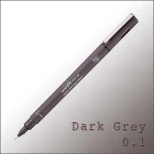 Drawing Pen Dark Grey – Uni