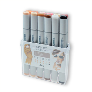 COPIC Sketch – Set (Skin) 12 colori